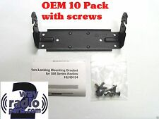 10 X Oem Motorola Mounting Bracket Kit M1225 Sm120 Pm400 Sm50 Vhfuhf Hln9154a