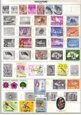 Singapore Stamps, Lot of 29, Used, Hinged, Fish, Flowers, Birds, British Colony