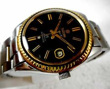 COLLECTORS TITONI COSMO KING SWISS ROTOMATIC 25JEWELS  BLACK DIAL MEN WATCH RARE
