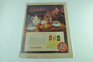 A&P Coffee Full Page Print Ad 376