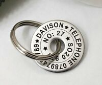 Funky Small Pet Dog ID Disc Name Tag Tags- Stainless steel Personalised Engraved