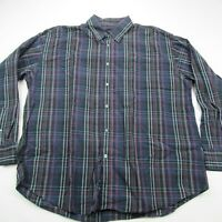 Bugatchi Uomo Mens Button Down Casual Shirt Men's XL Blue Purple Checks