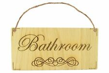 Bathroom Shabby Chic Gift Door Sign Oak Plaque for Toilet or Bathroom The Loo