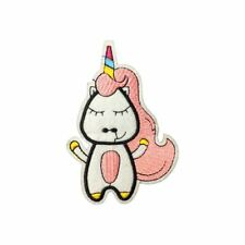 Cute Toon Unicorn (Iron On) Embroidery Applique Patch Sew Iron Badge