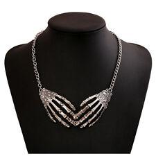 1pc Punk Gothic Skull Hand Skeleton Choker Necklace Pendant Statement Chain Gift
