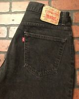 Levi's 550 Relaxed Fit Black Jeans Men's Size 36 x 32