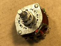 Vintage Oak 4 Position 2-pole Rotary Switch for Tube Amplifier Ham Radio 1950s