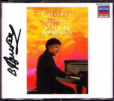 Vladimir ASHKENAZY Signiert CHOPIN 16 Polonaises 2CD Decca 1987 Adieu