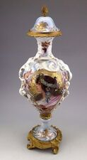Antique Sevres Style French Vase and Cover/Urn with gilt metal - signed