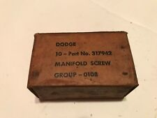 WW2 Military Vehicle G502 Dodge 3/4 ton WC manifold screws, original box of 10