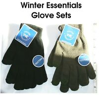 Texting Friendly Gloves Winter Essentials Dark Gray and Black Pairs