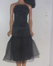 "Vintage Black Dress Barbie sized British Crown Colony Babs Fab lu""Femme Fatale"""