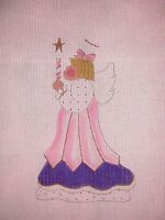 "JG Mile High Princess ""Angel"" Christmas HP Handpainted Needlepoint Canvas"
