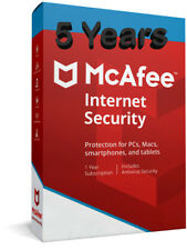 McAfee Internet Security 2019  for One PC  Windows ( 5 Years)