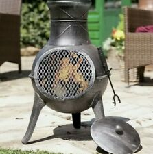🔥LA HACIENDA Panama (Diogo) Cast Iron Chiminea Garden Patio Heater Log Burner🔥