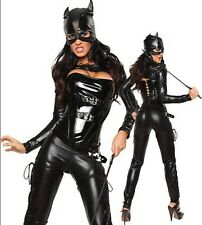 SEXY ADULT CAT WOMEN SUPER HERO DARK NIGHT FANCY DRESS HALLOWEEN COSTUME HL6738