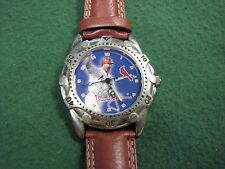 Beautiful St. Louis Cardinals Wrist Watch New W/ Original Leather Watch Band !