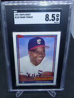 1991 Topps Debut Frank Thomas Rookie Card #153 Graded SGC NM-MT+ 8.5