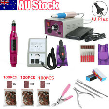 Electric Nail File Drill Acrylic Pedicure Manicure Salon Machine 6 Bits Tool Set