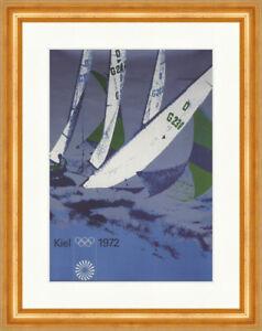 Kiel 1972 Olympia Sommerspiele Segel Schilksee Kunstdruck Plakatwelt 676 Gerahmt