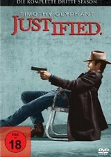 JUSTIFIED, Season 3 (Timothy Olyphant) 3 DVDs NEU+OVP