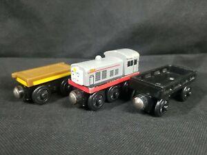 Cargo Car Flatbed Frank Train Fits BRIO Chuggington Thomas Wooden Track See Pics