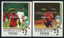 S6306) Ghana 1990 MNH World Cup Football' 90- Cup Del Mondo Football S/S x2
