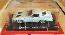 "DIE CAST "" CHEVROLET STINGRAY - 1963  "" SCALA 1/43 AUTO PLUS + BOX 1"