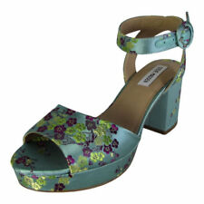 Standard Width (B) Textile Wedge Floral Heels for Women
