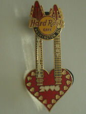 HRC hard rock cafe washington Valentines Day 2006 Heart Double Neck Guitar le200