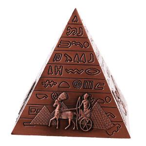 1Pack Architecture Souvenir Pyramid Statue Alloy CollectibleOrnaments Sculptures