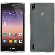 Coque en Silicone Huawei Ascend P7 - transparent blanc + films de protection