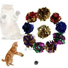 12pcs Colorful Crinkle Foil Balls Cat Kitten Sound Paper Toy Cat Toy Mylar Balls