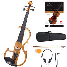 Cecilio Size 4/4 Electric Violin Ebony Fitted ~Yellow Style2