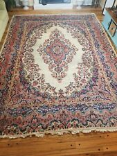 Vintage 1950's Rare Colors Kerman Persian Hand Knotted 14.5 FtX10.5 Ft Wool Rug