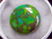 BEAUTIFUL30CT ROUND SHAPE NATURAL  EARTH MINED GREEN COPPER TURQUOISE