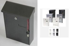 Letter Box Livarno Letterboxes White Black Silwer Grey