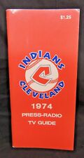 Vintage 1974 MLB BASEBALL CLEVELAND INDIANS MEDIA PRESS GUIDE YEARBOOK SPORTS