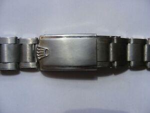 RARE 1958 ROLEX RIVETED 7206 STEEL BRACELET