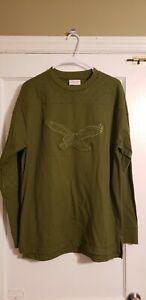 100% Authentic Mitchell & Ness Philadelphia Eagles Sweatshirt Crew Neck Size L