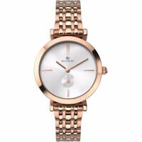 Accurist 8180 Ladies Rose Gold Plated Silver Dial Bracelet Watch RRP £159.99