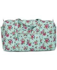 Vera Bradley Iconic Large Travel Bag  Weekender Water Bouquet Floral  NWT