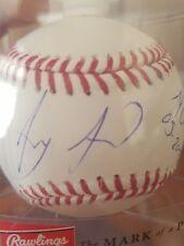 anthony alford signed baseball autographed ball romlb auto blue jays mlb debut