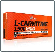 Olimp L-Carnitine 1500 Extreme Mega Caps Weight Loss Fat Burner 30-120 Caps