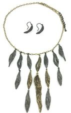 Set of Michaud Retired Indian Summer Leaf Necklace & Wire Earrings Retail $249