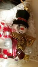 Polonaise Ap1693 Jeweled Snowman Polish Glass Ornament Kurt Adler Mib Retired