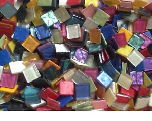 MIXED METALLIC AND IRIDESCENT METALLIC - 100 - 3/8 inch - Glass Mosaic Tiles
