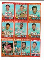 1971 Topps Houston Oilers Team Set with Ken Houston and Jerry LeVias
