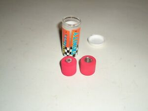 """1/24 TRINITY RED TIRES 1/8"""" AXLE ABOUT .790 SLOT CAR NOS"""