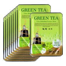 Green tea Face Mask Pack Sheet Moisture Essence Facial Skin Care 9pcs Unisex